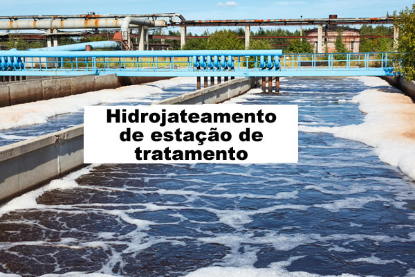 Hidrojateamento de estação de tratamento em Sorocaba